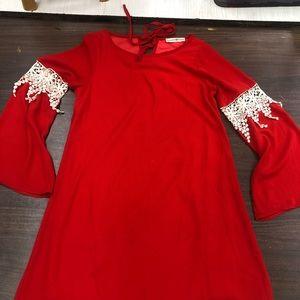 Altar'd State Dress Medium red lace